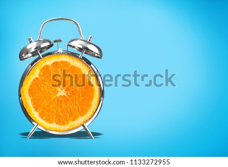 Layout fresh orange slice alarm #1133272955
