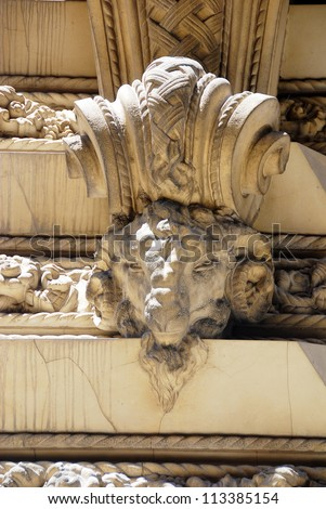 Details of famous building in Buenos Aires, Argentina #113385154