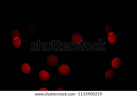 Lights red color on black background. Abstract lights red. Red bokeh effect. #1133900219