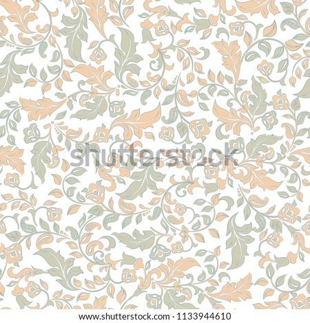 vintage flowers seamless pattern. Floral background #1133944610