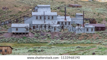 The Abandoned Mine Found at the Ghost Town of Bodie, California Royalty-Free Stock Photo #1133968190