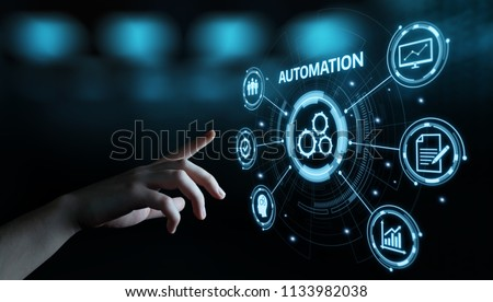 Automation Software Technology Process System Business concept. #1133982038