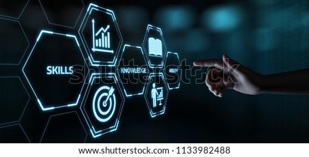 New Skills Knowledge Webinar Training Business Internet Technology Concept. Royalty-Free Stock Photo #1133982488