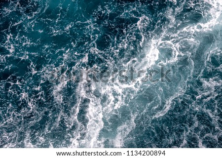 Aerial of rough water and rapids #1134200894