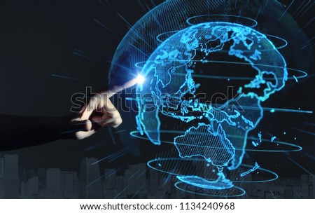 Global communication network concept. #1134240968