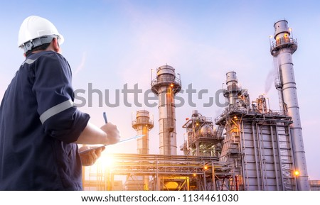 Electric engineer checking the Power Plant #1134461030