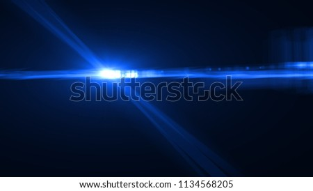 Abstract digital lens flare overlays background. #1134568205