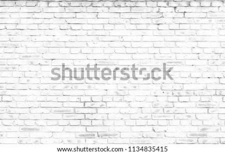 white brick wall background in rural room #1134835415