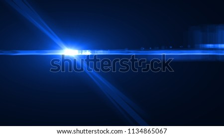 Abstract lens flare overlays background. Digital art. #1134865067
