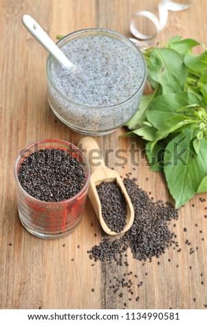 Fresh basil with seed #1134990581