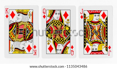 Playing Cards full deck and back white background mockup