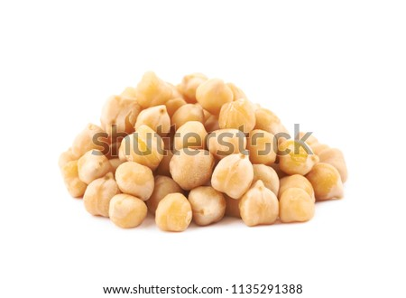Pile of cooked chick peas isolated #1135291388