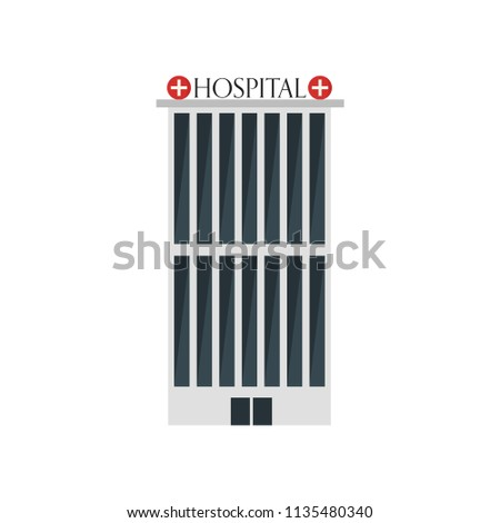 Hospital icon vector isolated on white background for your web and mobile app design, Hospital logo concept #1135480340