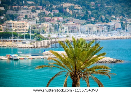 The beautiful Mediterranean city of Menton. French Riviera. Cote d'Azur