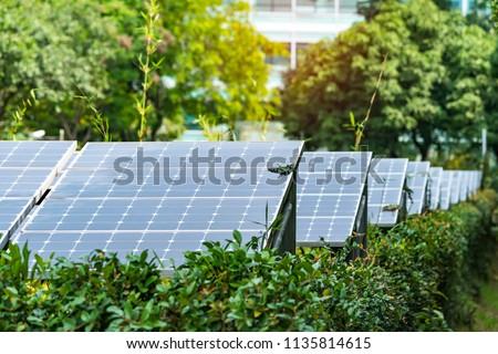 Alternative energy, sources and solar panels, sun energy.crystal. Royalty-Free Stock Photo #1135814615