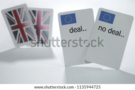 British and European playing cards with deal and no deal cards #1135944725
