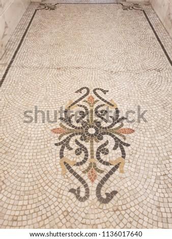 Mosaic floor background #1136017640
