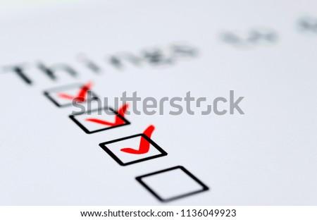 Business concept - To do list. #1136049923