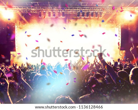 Concert event live with people and the stage #1136128466