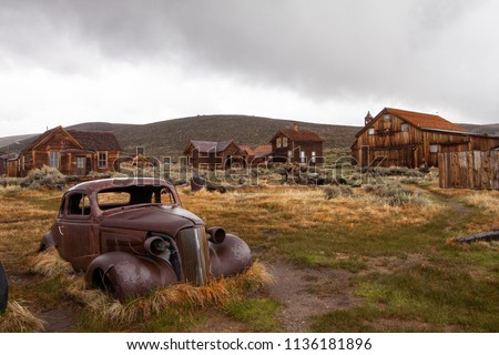 Bodie Ghost Town California Sierra Nevada Royalty-Free Stock Photo #1136181896