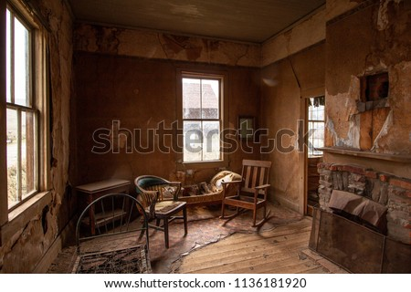 Bodie Ghost Town California Sierra Nevada Royalty-Free Stock Photo #1136181920