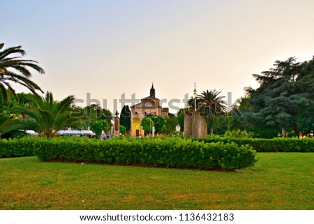 Italy, Livorno, Vada, July 2018 landscape of the resort town of Vada in the municipality of Rosignano Marittimo in Tuscany Italy #1136432183