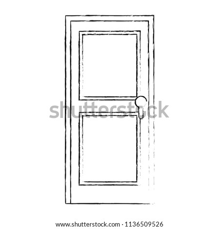 door wooden isolated icon #1136509526