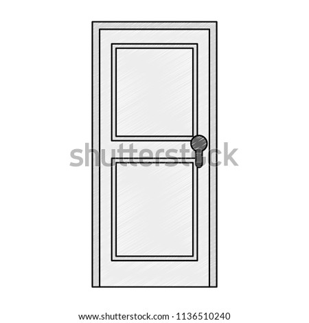 door wooden isolated icon #1136510240