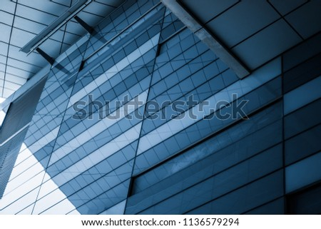 Close-Up of Modern Office Buildings in city of China #1136579294