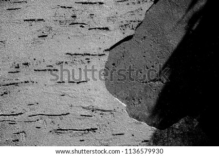 Abstract background. Monochrome texture. Image includes a effect the black and white tones. #1136579930