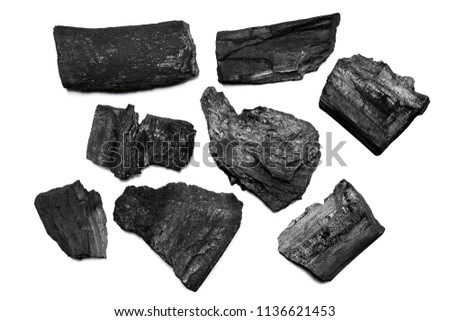 Natural black charcoal from old tree. High wood energy coal for warm in the winter or for household. #1136621453