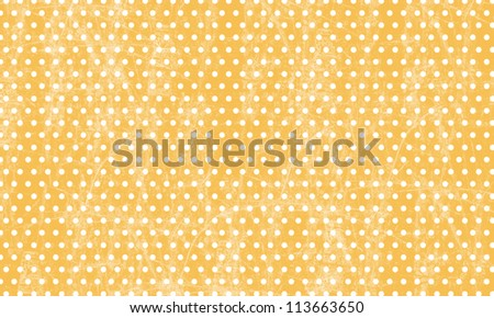 Digital Paper - Polka Dot Background - Orange Grunge