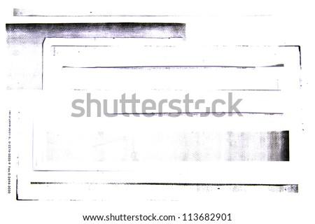 Photocopiers border on white background #113682901