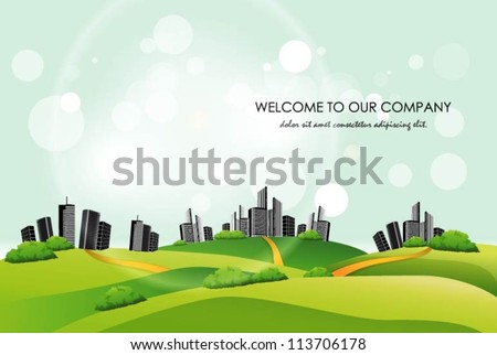 City landscape background. Vector illustration #113706178