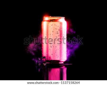 Refreshing cold drink. 3d illustration #1137158264