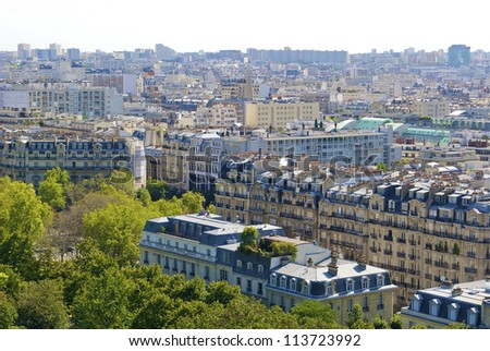 View of Paris from the Eiffel Tower #113723992