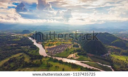 View of Chiang Rai city, Thailand #1137435725