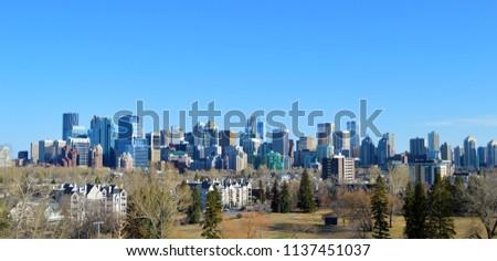 Calgary Skyline, Calgary, Canada #1137451037