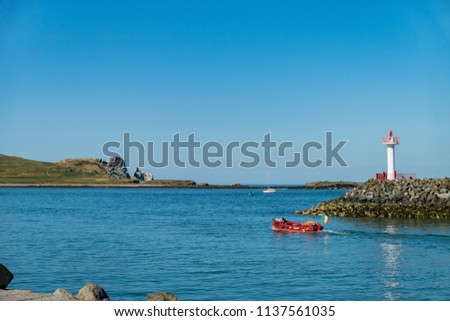 Dublin, JUL 1: Afternoon view of the beautiful Howth harbour on JUL 1, 2018 at Dublin, Ireland #1137561035