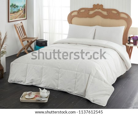 white linen and pillow #1137612545