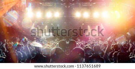 Concert shot with floating dust and distress effect #1137651689