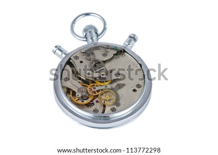 Stopwatch works isolated on white background, clipping path included. #113772298