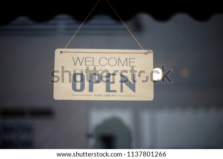 Welcome sign coffe #1137801266