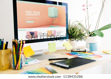 Graphic design studio creativity tutorials #1138435286