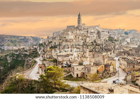 Matera skyline, Matera best view, panorama of Matera, Matera capital of culture, best sky #1138508009