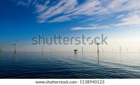 Offshore wind Farm North Sea Perfect weather #1138940123