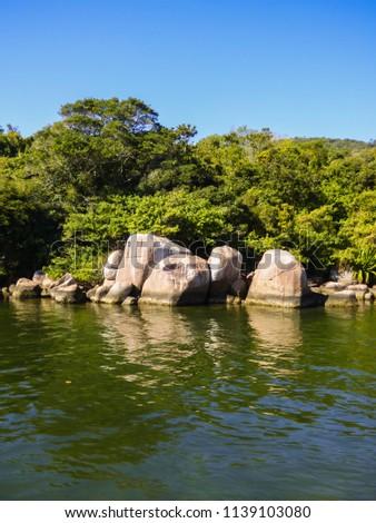 A view of Lagoa da Conceicao at Barra da Lagoa - Florianopolis, Brazil #1139103080