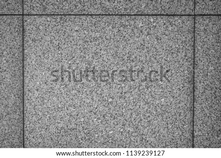 Monochrome Closeup of Marble Block Wall. #1139239127