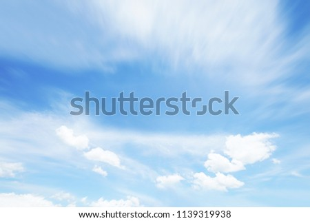 Clouds sky blurred during morning open view out windows beautiful summer spring and peaceful nature background. #1139319938