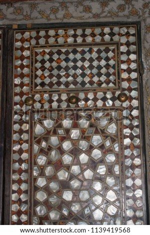 Ottoman art example of Mother of Pearl inlays #1139419568